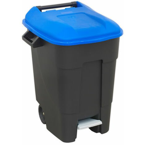 Sealey BM100PB Refuse/Wheelie Bin with Foot Pedal 100L - Blue