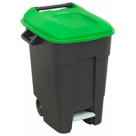Sealey BM100PG Refuse/Wheelie Bin with Foot Pedal 100L - Green