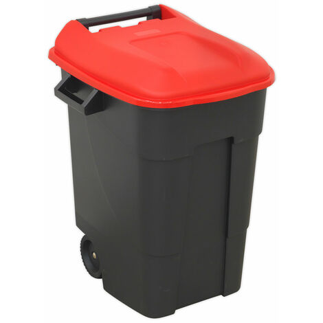 Sealey BM100R Refuse/Wheelie Bin 100L - Red