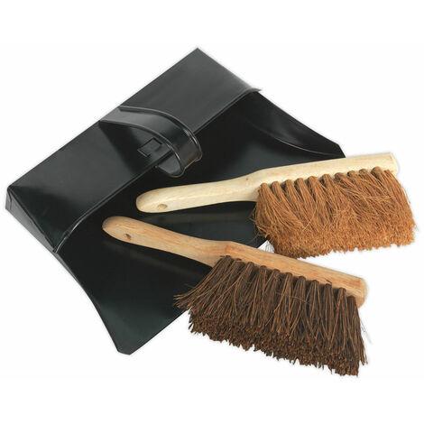 Sealey BM26 Dustpan & Brushes Metal