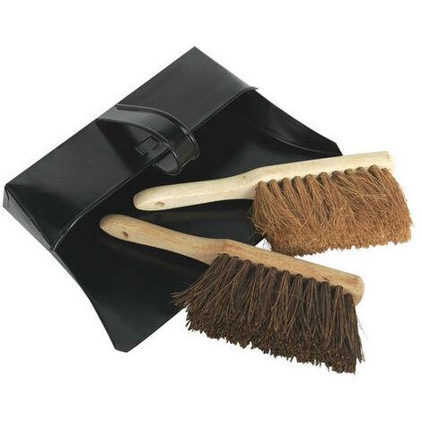 Sealey BM26 Metal Dustpan & Brushes