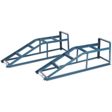 Sealey CAR2000 Car Ramps 1tonne Capacity per Ramp 2tonne Capacity per Pair
