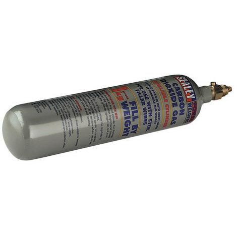 Sealey CO2/1KG Refillable Carbon Dioxide Gas Cylinder 1000g