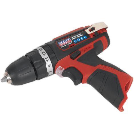 Sealey Cordless Hammer Drill/Driver 10mm 12V Li-ion - Body Only