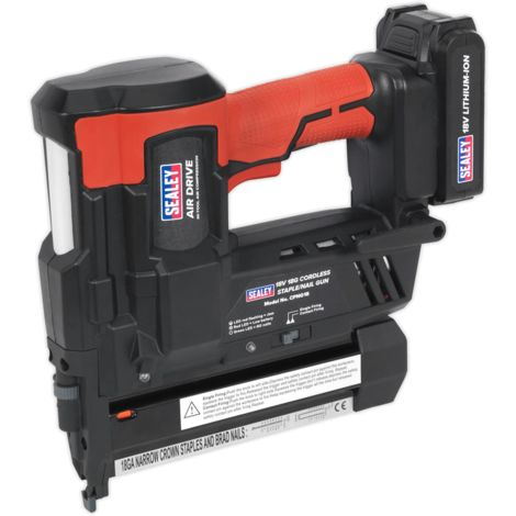 Sealey Cordless Nail/Staple Gun 18G 18V Lithium-ion