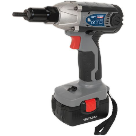 Sealey Cordless Nut Riveter/Impact Driver 18V 3Ah Lithium-ion 1hr Charger