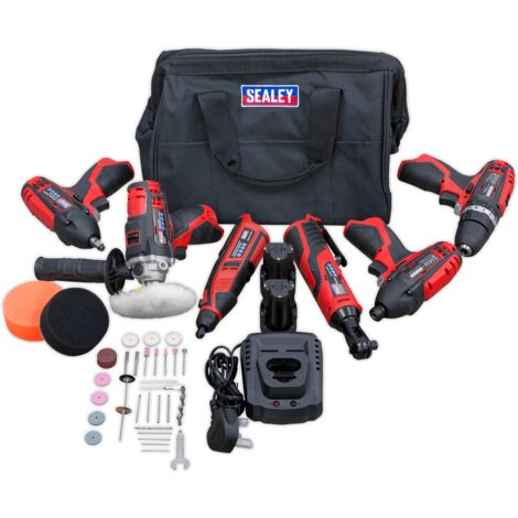 Sealey CP1200 Series 6 x 12V Cordless Power Tool Combo Kit