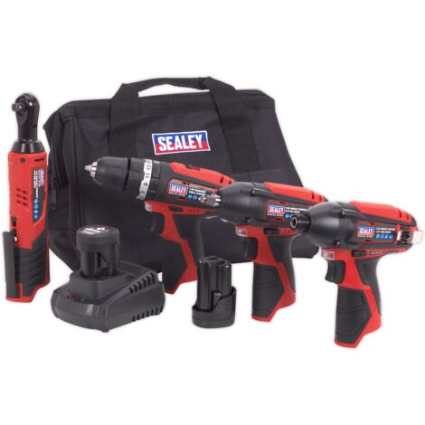 Sealey CP1200COMBO 12V Cordless Power Tool Combo 4pc Kit
