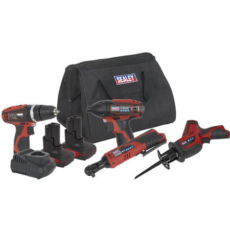Sealey CP1200COMBO3 12V Cordless Power Tool Combo Kit 4pcs