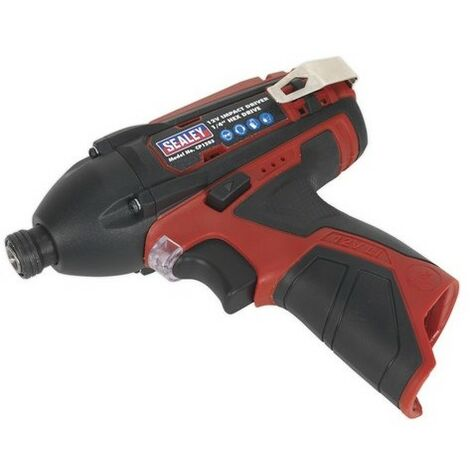 """Sealey CP1203 Impact Driver 12V 1/4""""Hex Drive 80Nm - Body Only"""