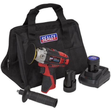 Sealey CP1205KIT Cordless Polisher Kit 71mm 12V - 2 Batteries