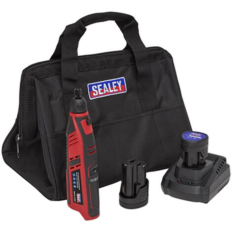 Sealey CP1207KIT Cordless Rotary Tool & Engraver Kit 49pc 12V