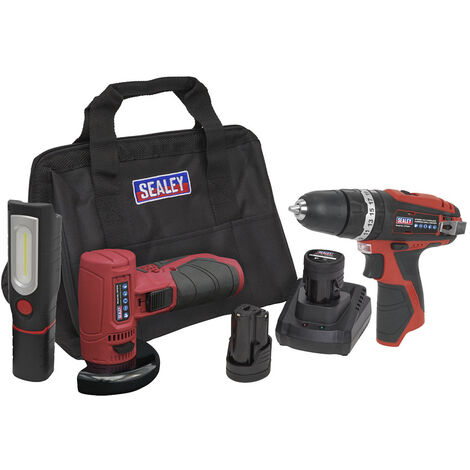 Sealey CP1210LEDCOMBO 12V Cordless Tool Kit 3pcs