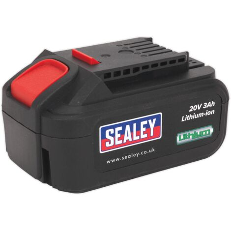 Sealey CP20VBP Power Tool Battery 20V 3Ah Li-ion for CP20V Series