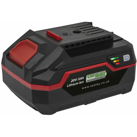 Sealey CP20VBP Power Tool Battery 20V 3Ah Lithium-ion for CP20V Series
