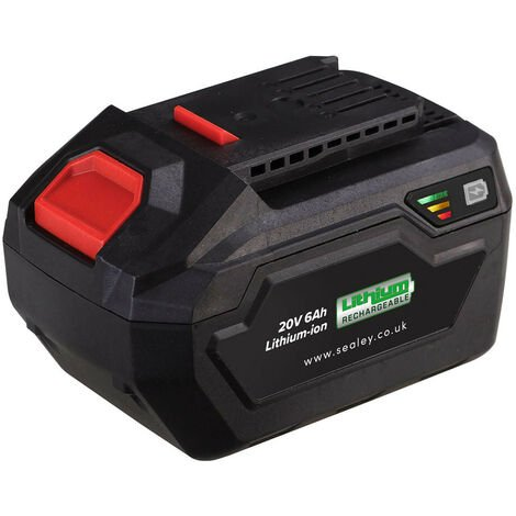 Sealey CP20VBP6 Power Tool Battery 20V 6Ah Lithium-ion for SV20 Series