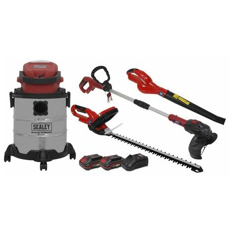Sealey CP20VCOMBO3 Garden Power Tool Kit 20V - 2 Batteries