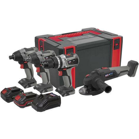 Sealey CP20VCOMBOX1 20V Brushless Tool Combo Kit 4pcs