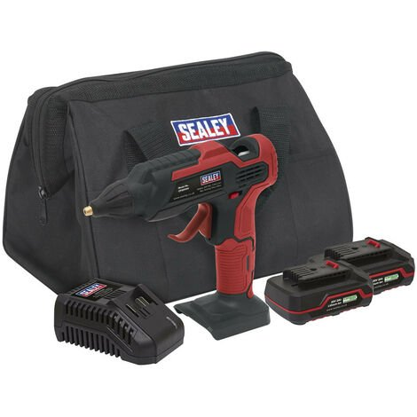 Sealey CP20VGGKIT Cordless Glue Gun Kit 20V - 2 Batteries