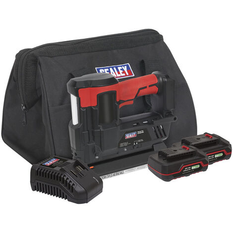 Sealey CP20VNGKIT Cordless Staple/Nail Gun Kit 18G 20V - 2 Batteries