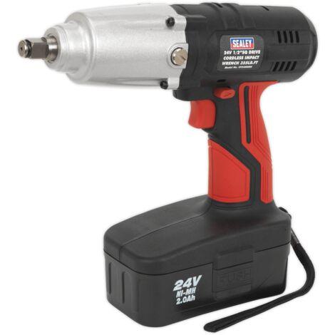 "Sealey CP2400MH Cordless Impact Wrench 24V 2Ah Ni-MH 1/2""Sq Drive 441Nm"