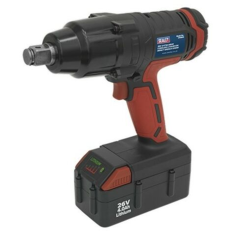 """Sealey CP2634 Cordless Impact Wrench 26V Lithium-ion 3/4""""Sq Drive 816Nm"""