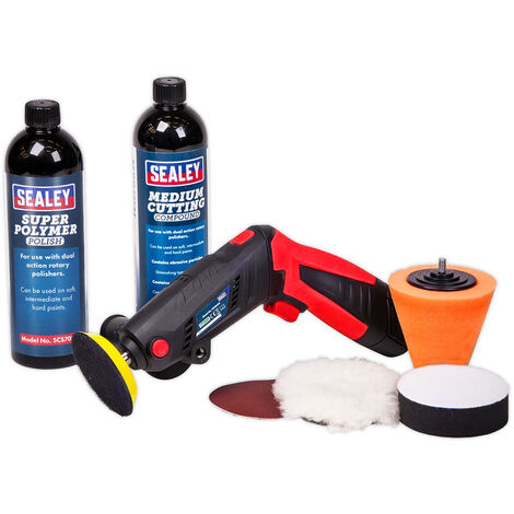 Sealey CP2812VCOMBO Cordless Mini Sander/Polisher Kit 75mm 12V Lithium-ion with Compound & Polish