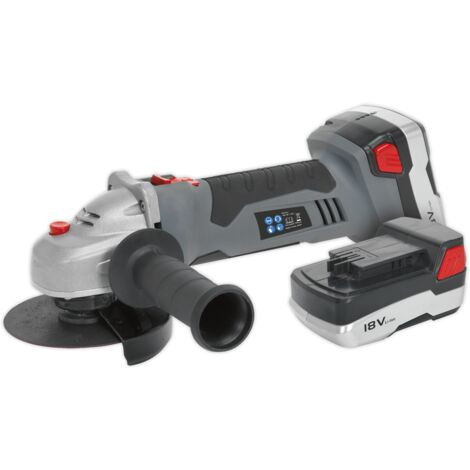 Sealey CP5418V Cordless Angle Grinder ??115mm 18V Lithium-ion 1hr Charge - 2 Batteries