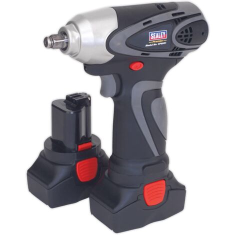 """Sealey CP6001 Cordless Impact Wrench 3/8""""Sq Drive 140Nm 14.4V 2Ah Lithium-ion - 2 Batteries 40min Charger"""
