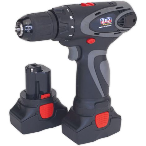 Sealey CP6004 Cordless Drill/Driver 10mm 14.4V 2Ah Lithium-ion 10mm 2-Speed Motor - 2 Batteries 40min Charger