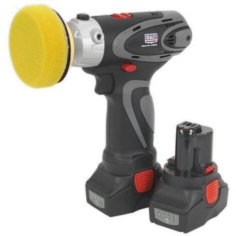 Sealey CP6005 Cordless Polisher/Sander Ø75mm 14.4V 2Ah Lithium-ion - 2 Batteries 40min Charger