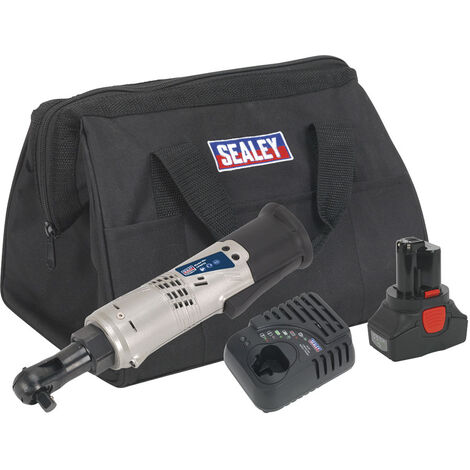 "Sealey CP6012KIT Cordless Ratchet Wrench Kit 14.4V 3/8""Sq Drive"