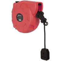 Sealey CRM101 Retracting Cable Reel System 10 Metre 230V Wall Mountable