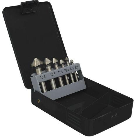 Sealey CSSET6V Countersink Bit Set 6pc - 3 x V Flutes