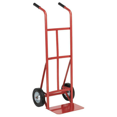 Sealey CST983 Sack Truck with 210 x 50mm Solid Tyres 150kg Capacity