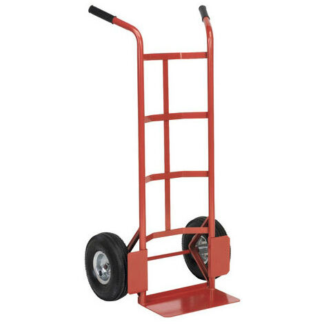 Sealey CST986 Sack Truck with 250 x 90mm Pneumatic Tyres 200kg Capacity