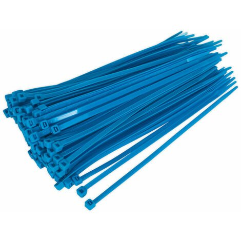 Sealey CT20048P100B Cable Ties 200 x 4.8mm Blue Pack Of 100