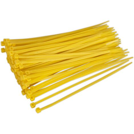 Sealey CT20048P100Y Cable Tie 200 x 4.8mm Yellow Pack of 100
