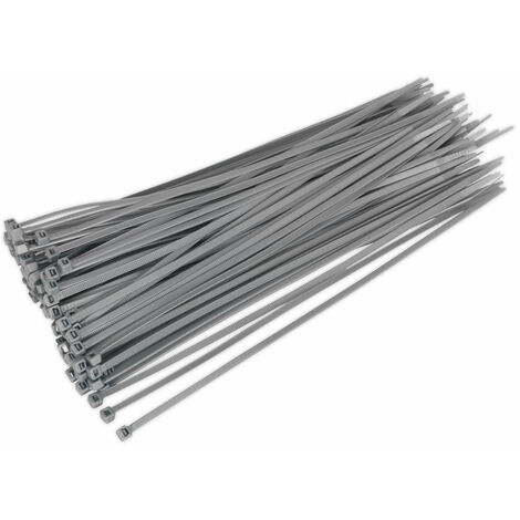 Sealey CT30048P100S Cable Ties 300 x 4.8mm Silver Pack Of 100