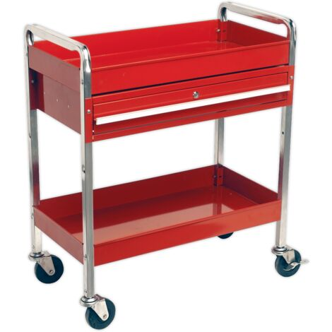 Sealey CX101D Trolley 2-Level Heavy-Duty with Lockable Drawer