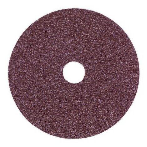 Sealey FBD10050 Sanding Disc Fibre Backed 100mm 50 Grit Pack of 25