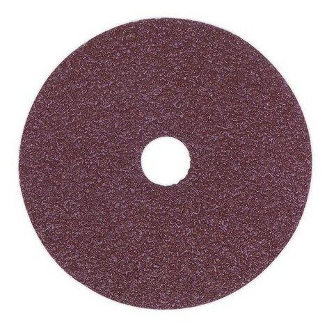Sealey FBD11550 Sanding Disc Fibre Backed 115mm 50 Grit Pack of 25