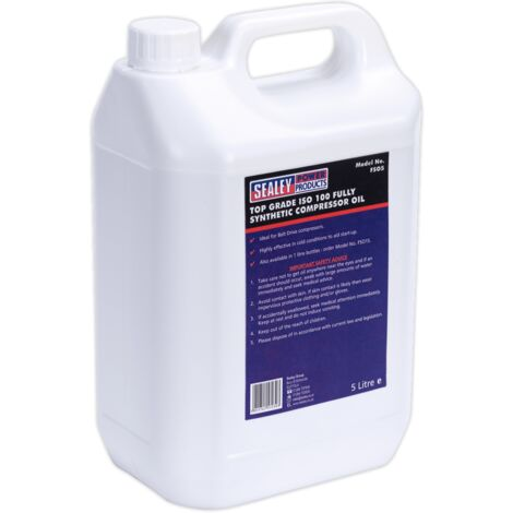 Sealey FSO5 Compressor Oil Fully Synthetic 5ltr