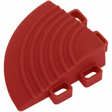Sealey FT3CR Polypropylene Floor Tile Corners 60 x 60mm Red - Pack of 4