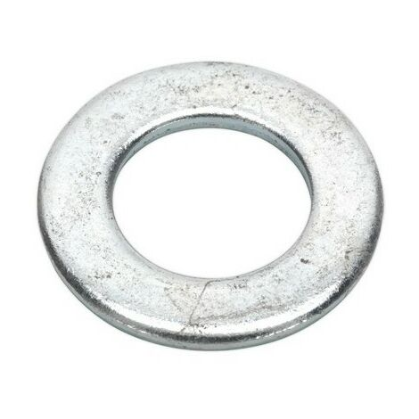 Sealey FWA2037 Flat Washer M20 x 37mm Form A Zinc DIN 125 Pack of 50