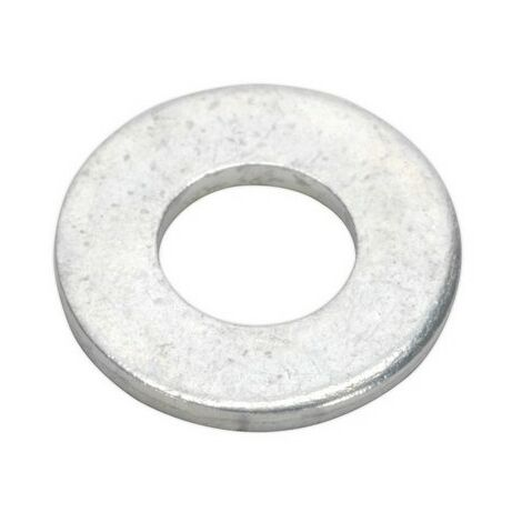 """Sealey FWI101 Flat Washer 3/8"""" x 3/4"""" Table 3 Imperial Zinc BS 3410 Pack of 100"""