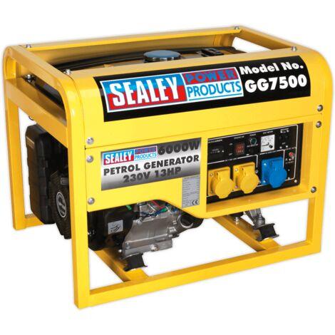 Sealey GG7500 4-Stroke Generator 6000W 110/230V 13hp