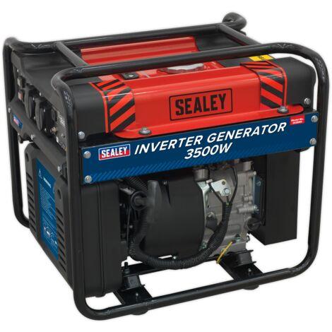 Sealey GI3500 Inverter Generator 3500W 230V 4-Stroke Engine
