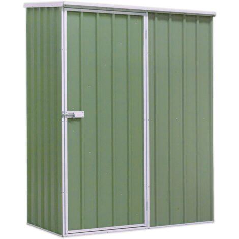 Sealey GSS1508G Galvanized Steel Shed Green 1.5 x 0.8 x 1.9m