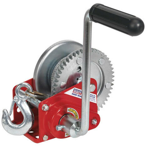 Sealey GWC1200B 540kg Capacity Geared Hand Winch with Brake & Cable